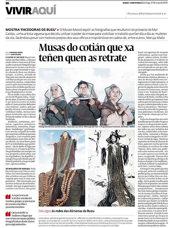Portada Facedoras de Bueu Diario de Pontevedra