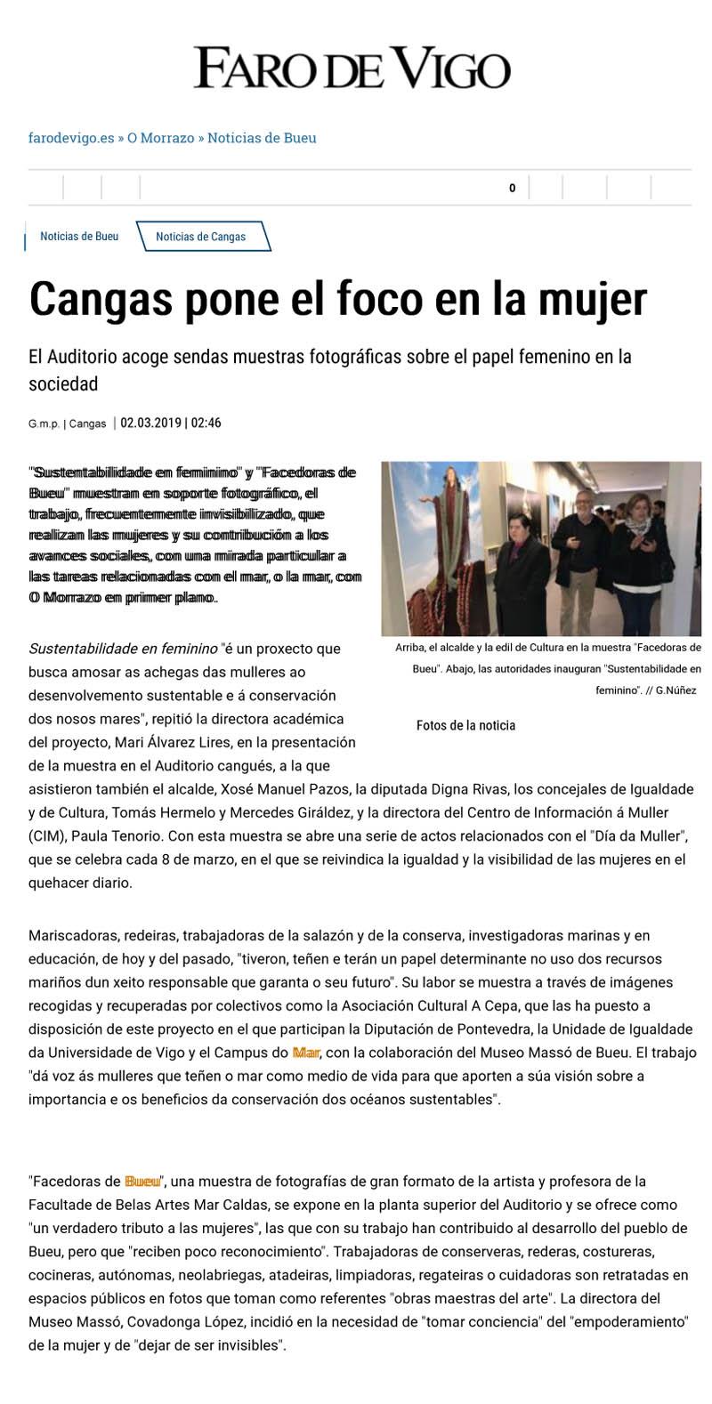 Faro de Vigo 02/03/19